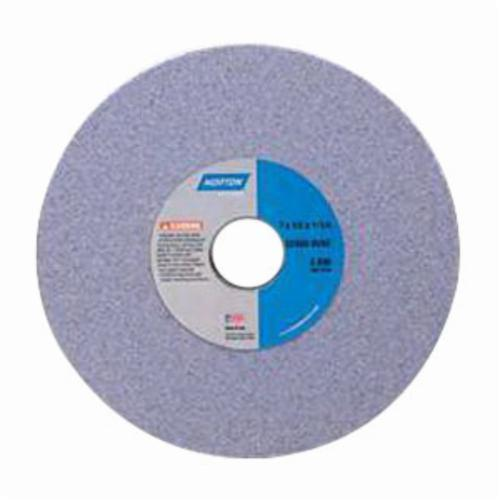 Norton® 66243428214 32A Straight Toolroom Wheel, 2 in Dia x 1/2 in THK, 3/8 in Center Hole, 60 Grit, Aluminum Oxide Abrasive