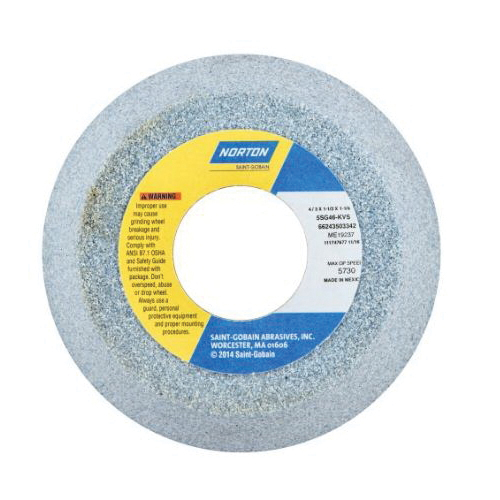 Norton® 66252836380 32A Straight Toolroom Wheel, 6 in Dia x 1/2 in THK, 1-1/4 in Center Hole, 46 Grit, Aluminum Oxide Abrasive
