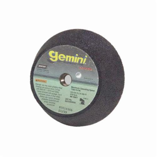 Norton® Gemini® 66243510512 57A Type 11 Portable Snagging Wheel, 4 in Dia Max, 2 in THK, Flaring Cup Shape