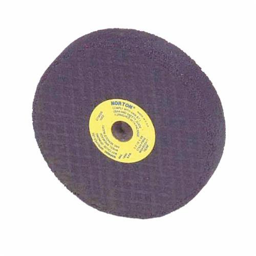 Norton® Gemini® 66243522381 57A Type 01 Portable Snagging Wheel, 2-1/2 in Dia Max, 1/2 in THK, Straight Shape