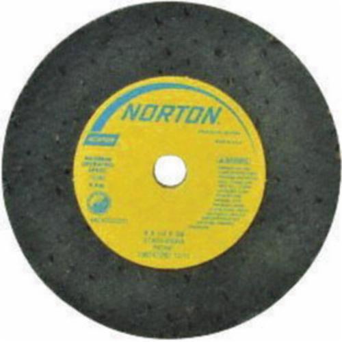 Norton® Gemini® 66243522417 57A Type 01 Portable Snagging Wheel, 3 in Dia Max, 1/2 in THK, 1/2 in L, Straight Shape