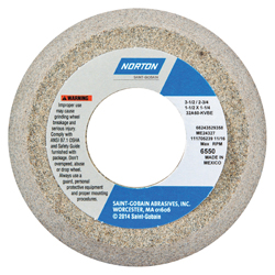 Norton® 66243529187 32A Toolroom Wheel, 3 in Dia x 1-1/4 in THK, 3/4 in Center Hole, 60 Grit, Aluminum Oxide Abrasive