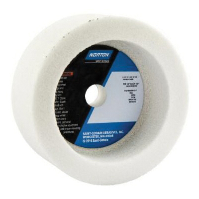 Norton® 66243529372 38A Toolroom Wheel, 3-1/2 in Dia x 1-1/2 in THK, 1/2 in Center Hole, 60 Grit, Aluminum Oxide Abrasive