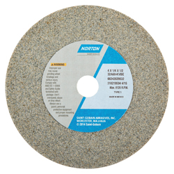 Norton® 66243529532 32A Straight Toolroom Wheel, 4 in Dia x 1/4 in THK, 1/2 in Center Hole, 60 Grit, Aluminum Oxide Abrasive
