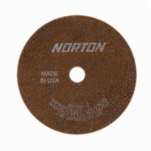 Norton® 66243529622 All Purpose Cut-Off Wheel, 4 in Dia x 0.035 in THK, 1/2 in Center Hole, 60 Grit, Aluminum Oxide Abrasive