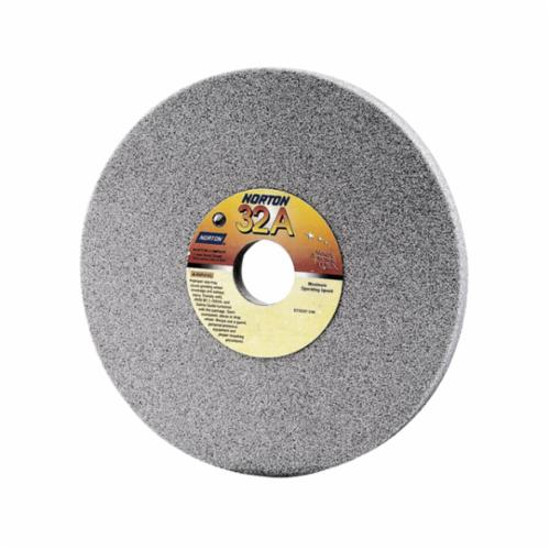 Norton® 66243529850 32A Straight Toolroom Wheel, 4 in Dia x 1/2 in THK, 3/4 in Center Hole, 80 Grit, Aluminum Oxide Abrasive