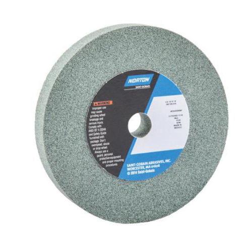 Norton® 66243530064 39C Straight Toolroom Wheel, 4 in Dia x 1/2 in THK, 1/2 in Center Hole, 100 Grit, Silicon Carbide Abrasive