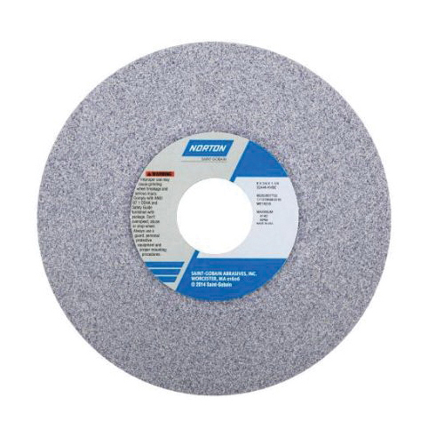 Norton® 66243530067 32A Dish Toolroom Wheel, 4 in Dia x 1/2 in THK, 3/4 in Center Hole, 60 Grit, Aluminum Oxide Abrasive