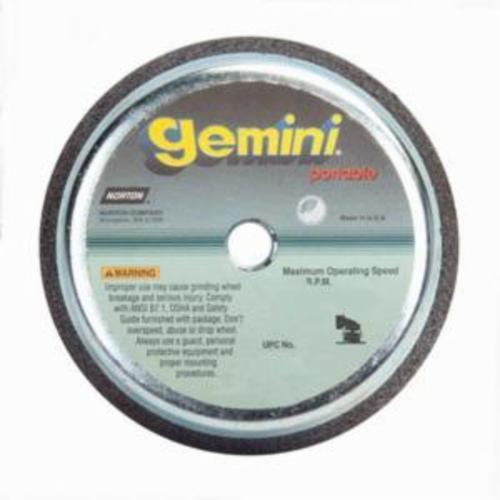 Norton® Gemini® 66252809600 57AC Type 11 Portable Snagging Wheel, 6 in Dia Max, 2 in THK, Flaring Cup Shape
