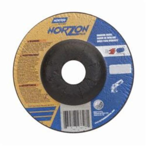 Norton® NorZon® Plus® 66252829540 All Purpose Cut-Off Wheel With Quick-Change Hub, 4-1/2 in Dia x 1/4 in THK, 7/8 in Center Hole, 24 Grit, Ceramic Alumina/Zirconia Alumina Abrasive