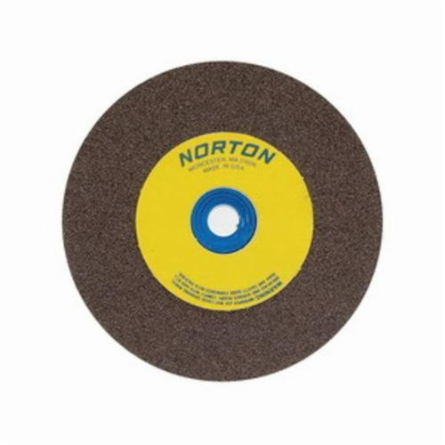 Norton® Gemini® 66253044454 57A Alundum® Straight Bench and Pedestal Grinding Wheel, 8 in Dia x 1 in THK, 1 in Center Hole, 24 Grit, Aluminum Oxide Abrasive