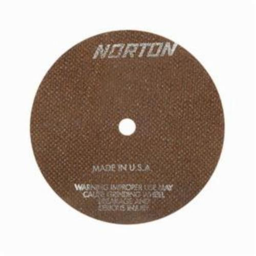 Norton® 66252835053 OBNA2 Toolroom Cut-Off Wheel, 6 in Dia x 0.035 in THK, 1/2 in Center Hole, 60 Grit, Aluminum Oxide Abrasive