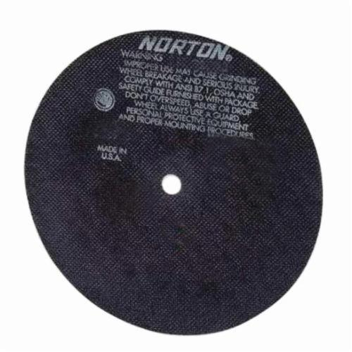 Norton® 66252835064 All Purpose Cut-Off Wheel, 6 in Dia x 0.035 in THK, 3/8 in Center Hole, 60 Grit, Aluminum Oxide Abrasive