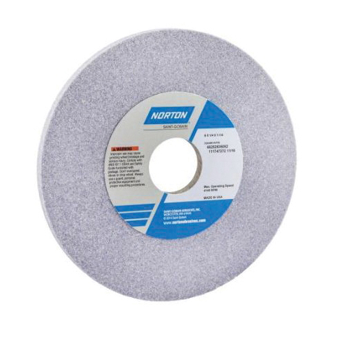 Norton® 66252835092 32AA Straight Toolroom Wheel, 6 in Dia x 1/4 in THK, 1-1/4 in Center Hole, 80 Grit, Aluminum Oxide Abrasive