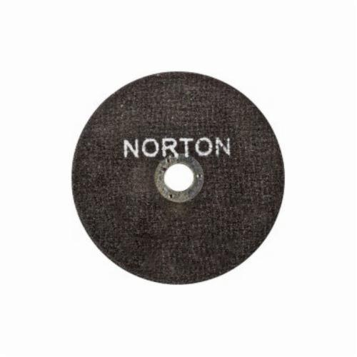 Norton® Metal® 66252835553 All Purpose Small Diameter Cut-Off Wheel, 3 in Dia x 1/16 in THK, 3/8 in Center Hole, 36 Grit, Aluminum Oxide Abrasive