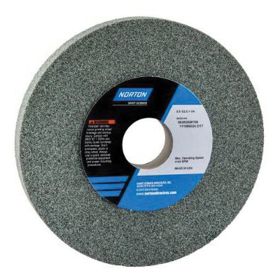 Norton® 66252836827 39C Straight Toolroom Wheel, 6 in Dia x 1/2 in THK, 1-1/4 in Center Hole, 100 Grit, Silicon Carbide Abrasive