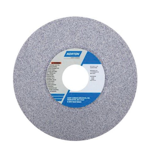 Norton® 66252836966 32A Toolroom Wheel, 6 in Dia x 1/2 in THK, 1-1/4 in Center Hole, 60 Grit, Aluminum Oxide Abrasive