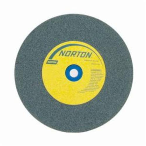 Norton® Gemini® Crystolon® 66252837194 Straight Bench and Pedestal Grinding Wheel, 6 in Dia x 1 in THK, 1 in Center Hole, 120 Grit, Silicon Carbide Abrasive