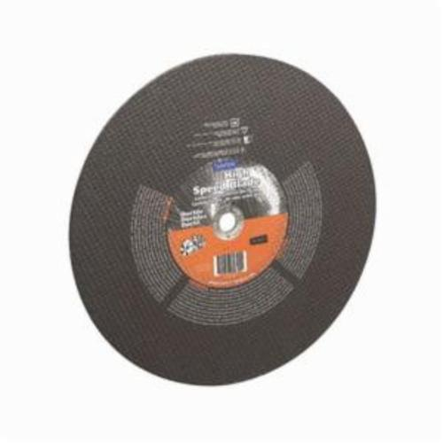 Norton® Gemini® Ductile 66252837843 Type 01 High Speed Reinforced Straight Cut-Off Wheel, 14 in Dia x 1/8 in THK, 1 in Center Hole, 24 Grit, Aluminum Oxide/Silicon Carbide Abrasive