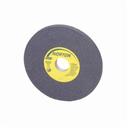 Norton® 66252838330 39C Cylinder Toolroom Wheel, 6 in Dia x 1 in THK, 4 in Center Hole, 100 Grit, Green Silicon Carbide Abrasive