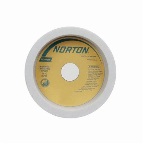 Norton® 66252838486 38A Straight Cup Wheel, 6 in Dia x 2 in THK, 1-1/4 in Center Hole, 60 Grit, Aluminum Oxide Abrasive