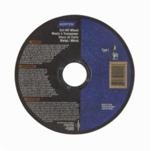 Norton® Metal RightCut™ 66252840001 CO4504M All Purpose Small Diameter Cut-Off Wheel, 4-1/2 in Dia x 0.045 in THK, 7/8 in Center Hole, 36 Grit, Aluminum Oxide Abrasive