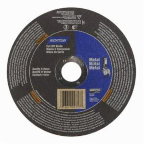 Norton® Metal RightCut™ 66252841212 CO604M All Purpose Small Diameter Cut-Off Wheel, 6 in Dia x 0.04 in THK, 7/8 in Center Hole, 60 Grit, Aluminum Oxide Abrasive