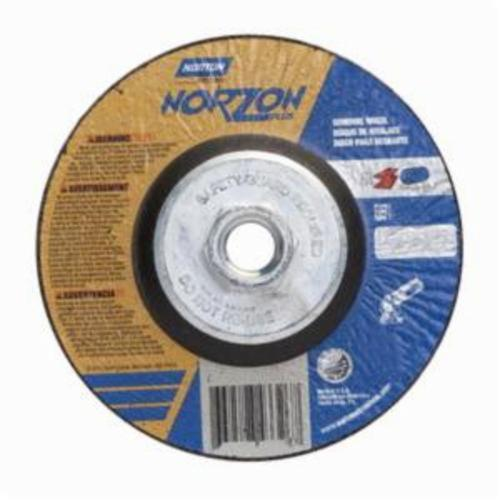 Norton® NorZon® Plus® 66252841891 All Purpose Cut-Off Wheel With Quick-Change Hub, 6 in Dia x 1/8 in THK, 24 Grit, Ceramic Alumina/Zirconia Alumina Abrasive