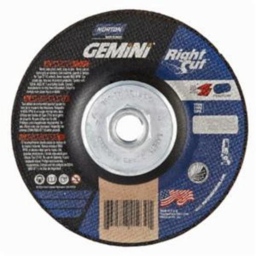 Norton® Gemini® RightCut™ 66252841939 RC5HG27 All Purpose Cut-Off Wheel With Quick-Change Hub, 5 in Dia x 0.045 in THK, 24 Grit, Aluminum Oxide Abrasive