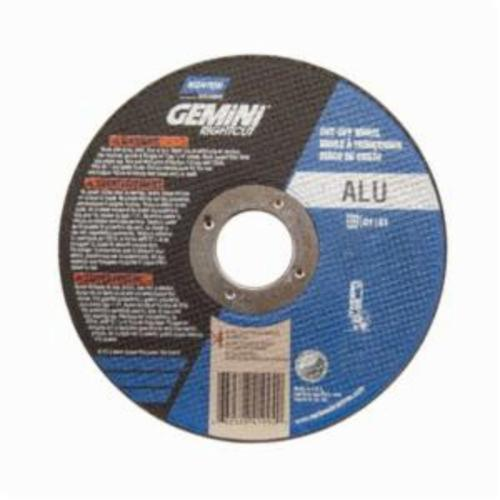 Norton® Gemini® RightCut™ 66252841994 All Purpose Cut-Off Wheel, 4-1/2 in Dia x 0.045 in THK, 7/8 in Center Hole, 36 Grit, Aluminum Oxide Abrasive