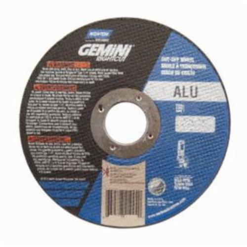 Norton® Gemini® RightCut™ 66252841996 All Purpose Cut-Off Wheel, 6 in Dia x 0.045 in THK, 7/8 in Center Hole, 36 Grit, Aluminum Oxide Abrasive