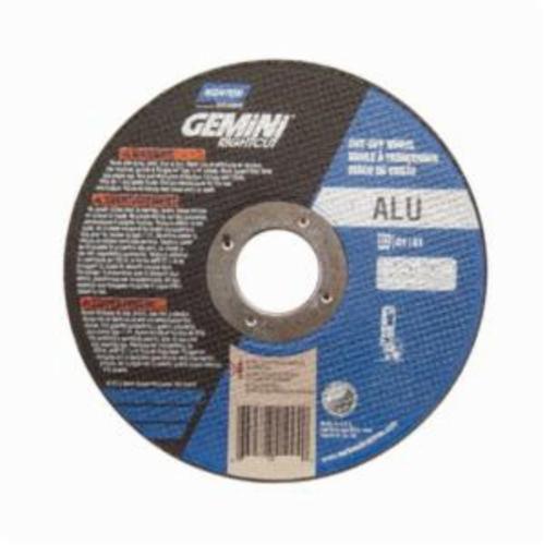 Norton® Gemini® RightCut™ 66252841997 Contaminant-Free Cut-Off Wheel, 4-1/2 in Dia x 0.045 in THK, 7/8 in Center Hole, 36 Grit, Aluminum Oxide Abrasive