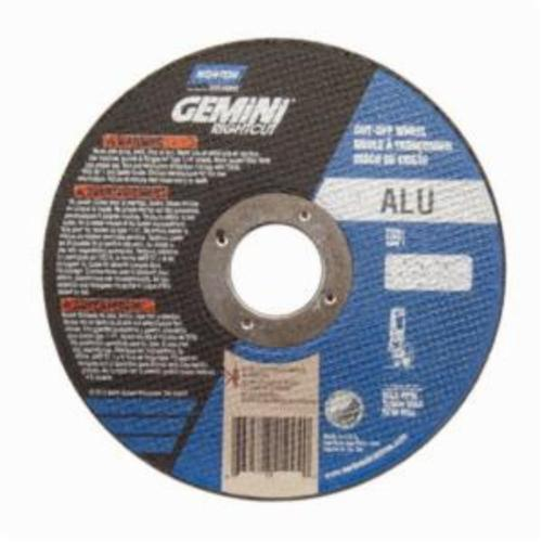 Norton® Gemini® RightCut™ 66252841999 Contaminant-Free Cut-Off Wheel, 6 in Dia x 0.045 in THK, 7/8 in Center Hole, 36 Grit, Aluminum Oxide Abrasive