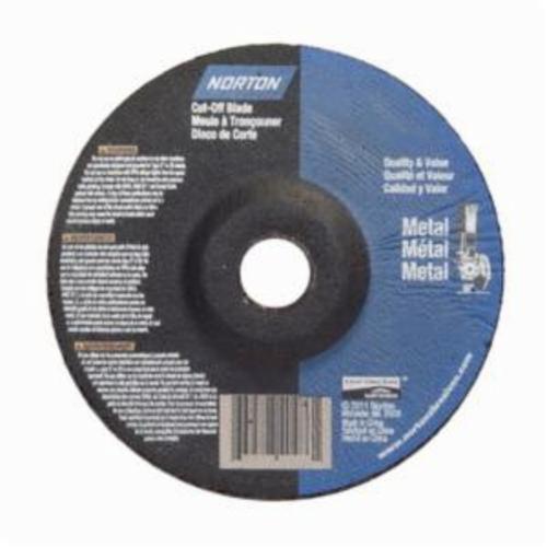 Norton® RightCut™ 66252842015 All Purpose Cut-Off Wheel, 6 in Dia x 0.045 in THK, 7/8 in Center Hole, 24 Grit, Aluminum Oxide Abrasive