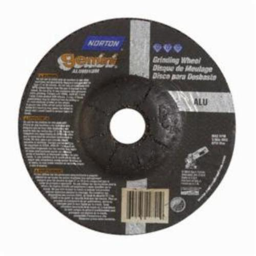 Norton® Gemini® 66252842183 DC414GALU Flexible Mini Cut-Off Wheel With Quick-Change Hub, 4 in Dia x 1/4 in THK, 5/8 in Center Hole, 46 Grit, Aluminum Oxide Abrasive