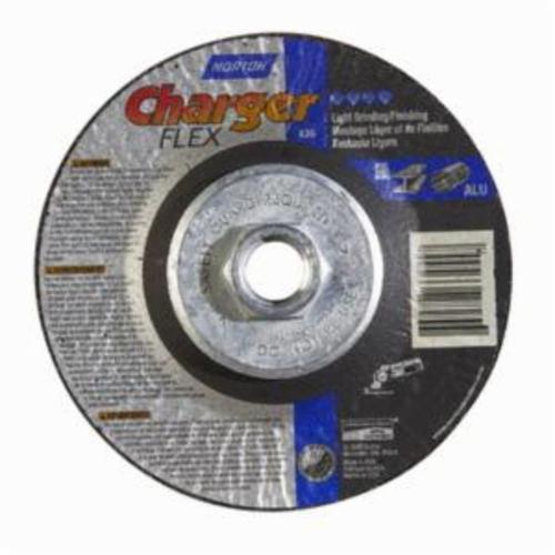 Norton® Gemini® 66252842203 DC4518HCHFLEX36 Flexible Cut-Off Wheel With Quick-Change Hub, 4-1/2 in Dia x 1/8 in THK, 36 Grit, Aluminum Oxide Abrasive