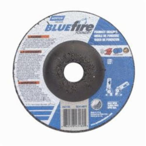 Norton® BlueFire® 66252843180 DC414CHF All Purpose Cut-Off Wheel With Quick-Change Hub, 4 in Dia x 1/4 in THK, 5/8 in Center Hole, 24 Grit, Silicon Carbide/Zirconia Alumina Abrasive
