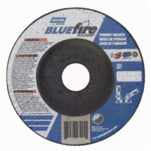 Norton® BlueFire® 66252843205 DC4514CHF All Purpose Cut-Off Wheel With Quick-Change Hub, 4-1/2 in Dia x 1/4 in THK, 7/8 in Center Hole, 24 Grit, Silicon Carbide/Zirconia Alumina Abrasive