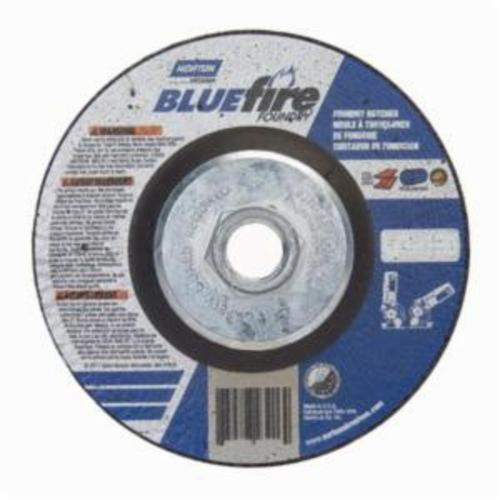 Norton® BlueFire® 66252843206 DC4518HCHF All Purpose Cut-Off Wheel With Quick-Change Hub, 4-1/2 in Dia x 1/8 in THK, 24 Grit, Silicon Carbide/Zirconia Alumina Abrasive