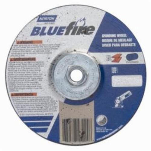 Norton® BlueFire® 66252843224 DC614HCH Type 27 All Purpose Depressed Center Cut-Off Wheel With Quick-Change Hub, 6 in Dia x 1/4 in THK, 24 Grit, Aluminum Oxide/Zirconia Alumina Abrasive