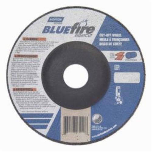 Norton® BlueFire® RightCut™ 66252843228 RC5HC27UT All Purpose Cut-Off Wheel, 5 in Dia x 0.04 in THK, 24 Grit, Aluminum Oxide/Zirconia Alumina Abrasive