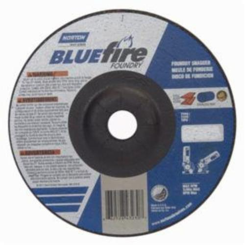 Norton® BlueFire® 66252843230 DC714CHF All Purpose Cut-Off Wheel With Quick-Change Hub, 7 in Dia x 1/4 in THK, 7/8 in Center Hole, 24 Grit, Silicon Carbide/Zirconia Alumina Abrasive