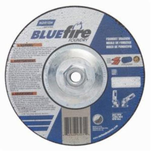 Norton® BlueFire® 66252843231 DC714HCHF All Purpose Cut-Off Wheel With Quick-Change Hub, 7 in Dia x 1/4 in THK, 24 Grit, Silicon Carbide/Zirconia Alumina Abrasive