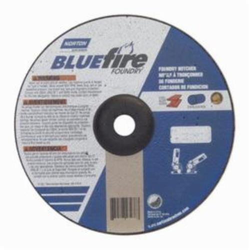Norton® BlueFire® 66252843238 DC918CHF All Purpose Cut-Off Wheel With Quick-Change Hub, 9 in Dia x 1/8 in THK, 7/8 in Center Hole, 24 Grit, Silicon Carbide/Zirconia Alumina Abrasive