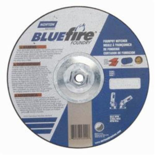 Norton® BlueFire® 66252843240 DC918HCHF All Purpose Cut-Off Wheel With Quick-Change Hub, 9 in Dia x 1/8 in THK, 24 Grit, Silicon Carbide/Zirconia Alumina Abrasive