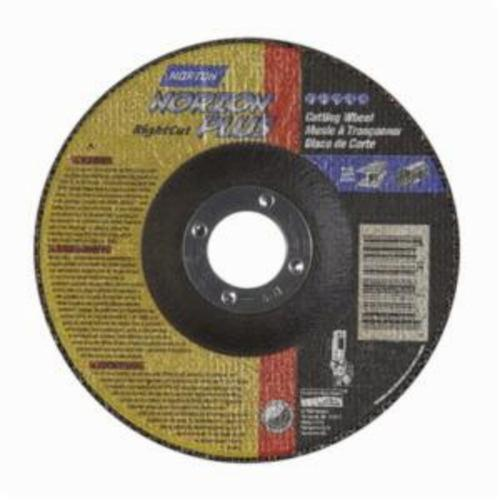 Norton® NorZon® Plus® RightCut™ 66252843329 RC5NZP27 All Purpose Cut-Off Wheel With Quick-Change Hub, 5 in Dia x 0.045 in THK, 7/8 in Center Hole, 24 Grit, Ceramic Alumina/Zirconia Alumina Abrasive