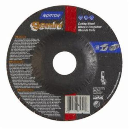 Norton® Gemini® RightCut™ 66252843583 DC5332G123 All Purpose Cut-Off Wheel, 5 in Dia x 3/32 in THK, 7/8 in Center Hole, 24 Grit, Aluminum Oxide Abrasive