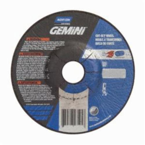 Norton® Gemini® RightCut™ 66252843595 DC5125G All Purpose Mini Cut-Off Wheel With Quick-Change Hub, 5 in Dia x 1/8 in THK, 7/8 in Center Hole, 24 Grit, Aluminum Oxide Abrasive