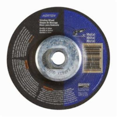 Norton® 66252843605 DC4514HM All Purpose Cut-Off Wheel With Quick-Change Hub, 4-1/2 in Dia x 1/4 in THK, 24 Grit, Aluminum Oxide Abrasive