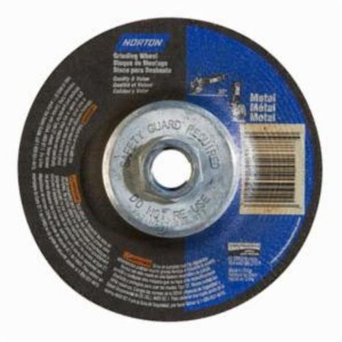 Norton® 66252843609 DC4518HMB All Purpose Cut-Off Wheel With Quick-Change Hub, 4-1/2 in Dia x 1/8 in THK, 24 Grit, Aluminum Oxide Abrasive